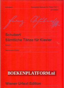 Schubert, Samtliche Tanze fur Klavier 1