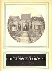 Wandeling door Oud Delft, gesigneerd