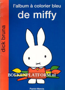 L'album a colorier bleu de Miffy
