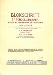 Blokschrift in school en beroep