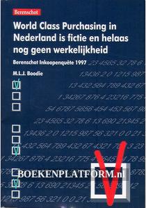 World Class Purchasing in Nederland is fictie