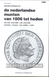 De Nederlandse munten van 1806 tot heden 1988