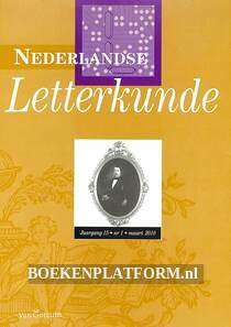 Nederlandse Letterkunde 2010 nr. 1