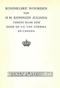 Koninklijke woorden 1952