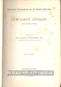 Our Lord's Ministry