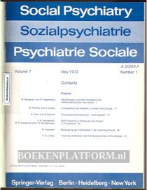 Social Psychiatry 1972