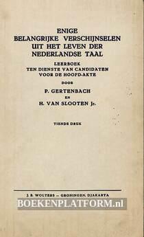 Enige belangrijke verschijnselen uit het leven der Nederlandse taal