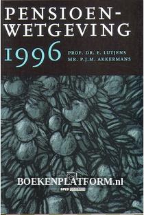Pensioenwetgeving 1996
