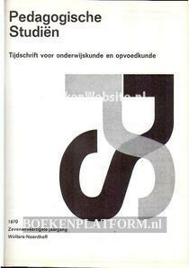 Paedagogische studien 1970
