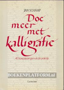 Doe meer met kalligrafie