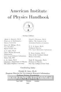 American Institute of Physics Handbook