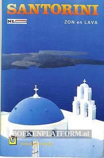 Santorini zon en lava