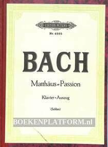 Joh. Seb. Bach Passionsmusik nach dem Evangelisten Matthäus