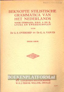 Beknopte stillistische grammatica van het Nederlands