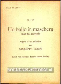 Un ballo in maschera, Opera in vijf taferelen