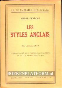 Les styles Anglais