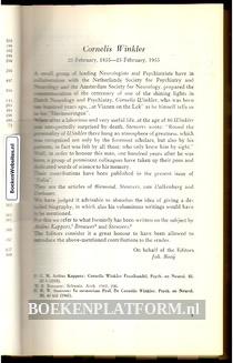 Psychiatrische en Neurologische Bladen 1955