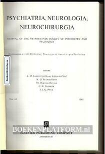 Psychiatria, Neurologia, Neurochirurgia 1961
