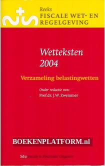 Wetteksten 2004, verzameling belastingwetten