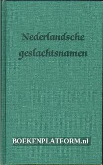 Nederlandsche geslachtsnamen