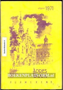 Adresboek Purmerend 1971
