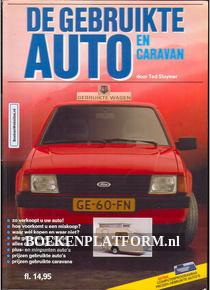 De gebruikte auto en caravan