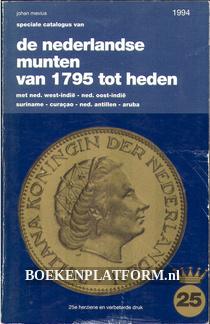 De Nederlandse munten van 1795 tot heden 1994