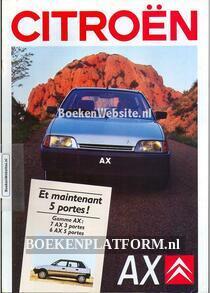 Citroen AX 1987 brochure