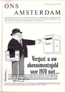 Ons Amsterdam 1970 Ingebonden met originele band