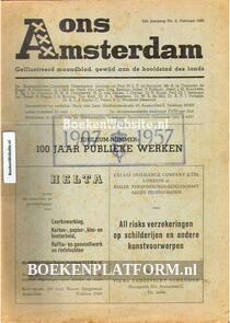 Ons Amsterdam 1950 no.02  Jubileumnr. 100 jaar Publieke werken