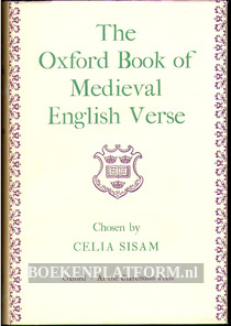 The Oxford Book of Medieval English Verse