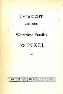 Overzicht van een Westfriese Familie Winkel I