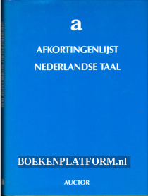 Afkortingen lijst Nederlandse taal