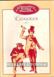 Oprechte Veiling Haarlem, catalogus 187