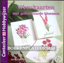 Wenskaarten met geborduurde bloemen