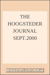 The Hoogsteder Journal Sept.2000