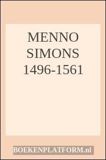 Menno Simons 1496-1561