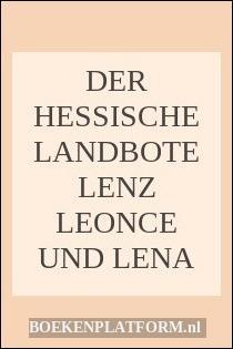 Der Hessische Landbote Lenz Leonce Und Lena