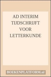 Ad interim Tijdschrijft voor letterkunde